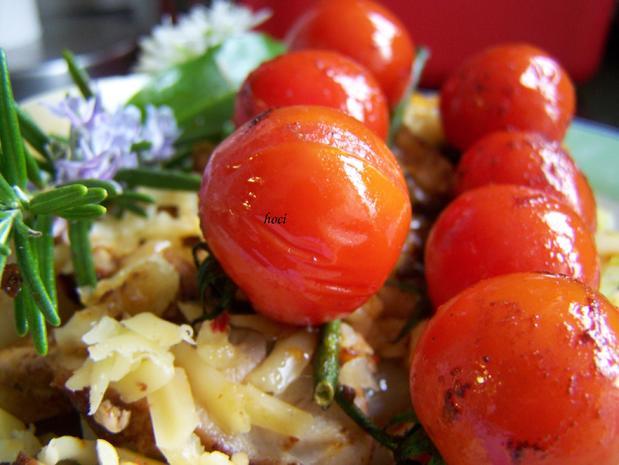 Illustrer Salat mit warmer Tomate - Rezept - Bild Nr. 5665