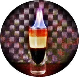 """""""B-52  SHOT"""" ➯ Drink  mit horizontaler Schichtung - Rezept - Bild Nr. 5665"""
