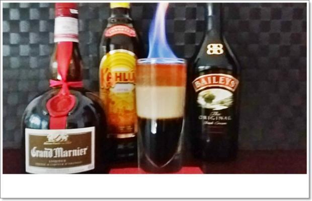 """""""B-52  SHOT"""" ➯ Drink  mit horizontaler Schichtung - Rezept - Bild Nr. 5669"""