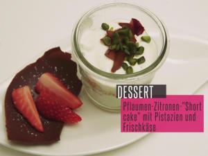 Pflaumen-Zitronen-Shortcake mit Pistazien und Frischkäse - Rezept - Bild Nr. 2