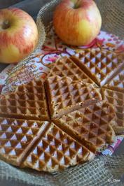 Rezept: Frühstück: Apfel-Waffeln