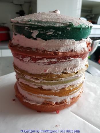 "Biskuit ""Naked Cake"" mit ""Dominotorte"" - Rezept - Bild Nr. 5688"