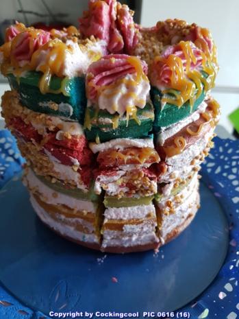 "Biskuit ""Naked Cake"" mit ""Dominotorte"" - Rezept - Bild Nr. 5691"