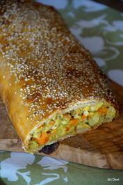 Pikanter Gemüse-Sesam-Strudel - Rezept - Bild Nr. 2