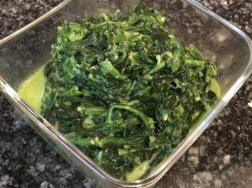Rezept: Blattspinat mit Parmesan