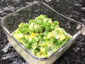 Rezept: Cremiges Lauch-Erbsen-Gemüse