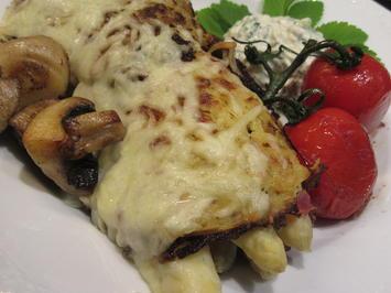 Rezept: Gemüse: Spargel, versteckt in Kartoffelpuffern
