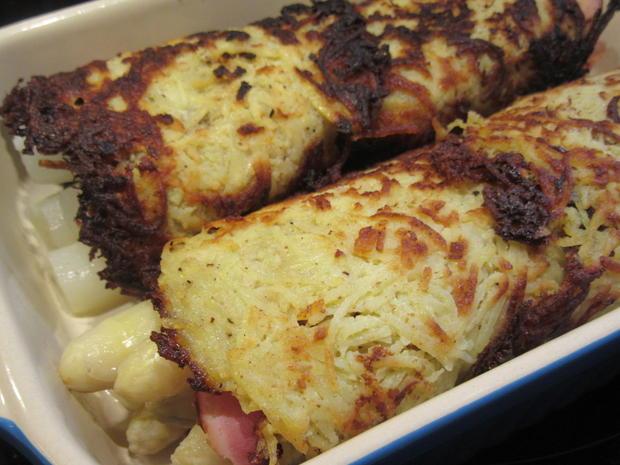 Gemüse: Spargel, versteckt in Kartoffelpuffern - Rezept - Bild Nr. 5700