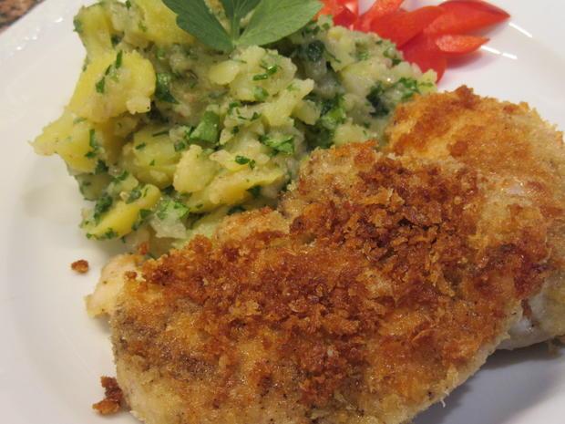 Geflügel: Hühnerschnitzel in Butterpanade - Rezept - Bild Nr. 5698