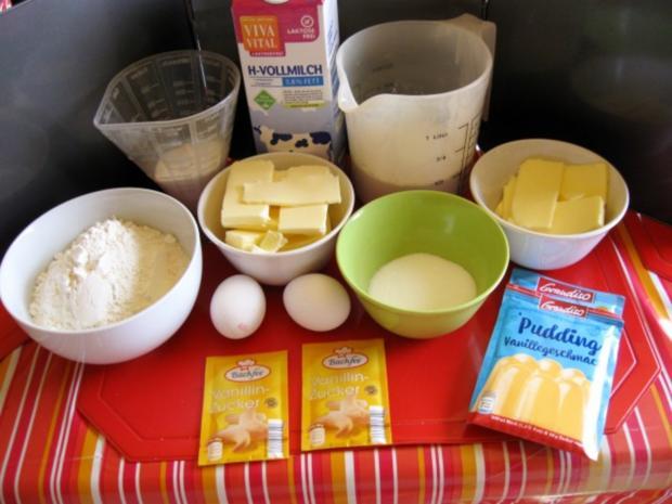 Streuselkuchen mit Vanillepudding - Rezept - Bild Nr. 2