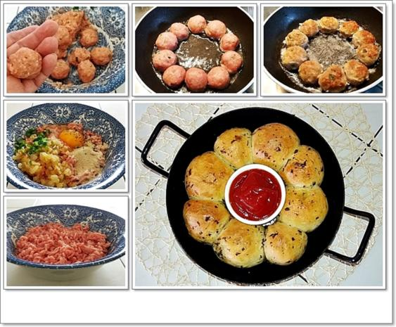 Party- Bällchen aus dem Ofen und BBQ Sauce dazu - Rezept - Bild Nr. 5700