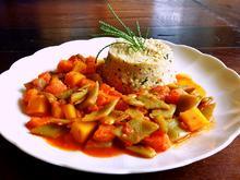 Olivenkraut-Hirsotto mit Harissa-Gemüse - Rezept - Bild Nr. 5703