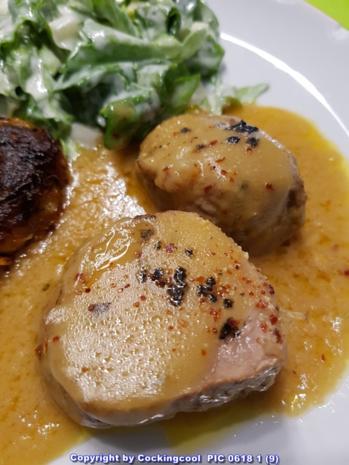 Fleisch / Schwein = Schweinefilet mit Krautfrikadellen und Salat à la Biggi - Rezept - Bild Nr. 5714