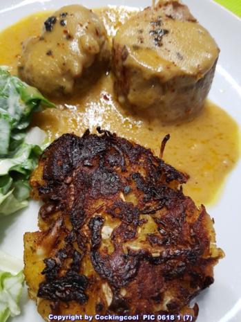 Fleisch / Schwein = Schweinefilet mit Krautfrikadellen und Salat à la Biggi - Rezept - Bild Nr. 5716