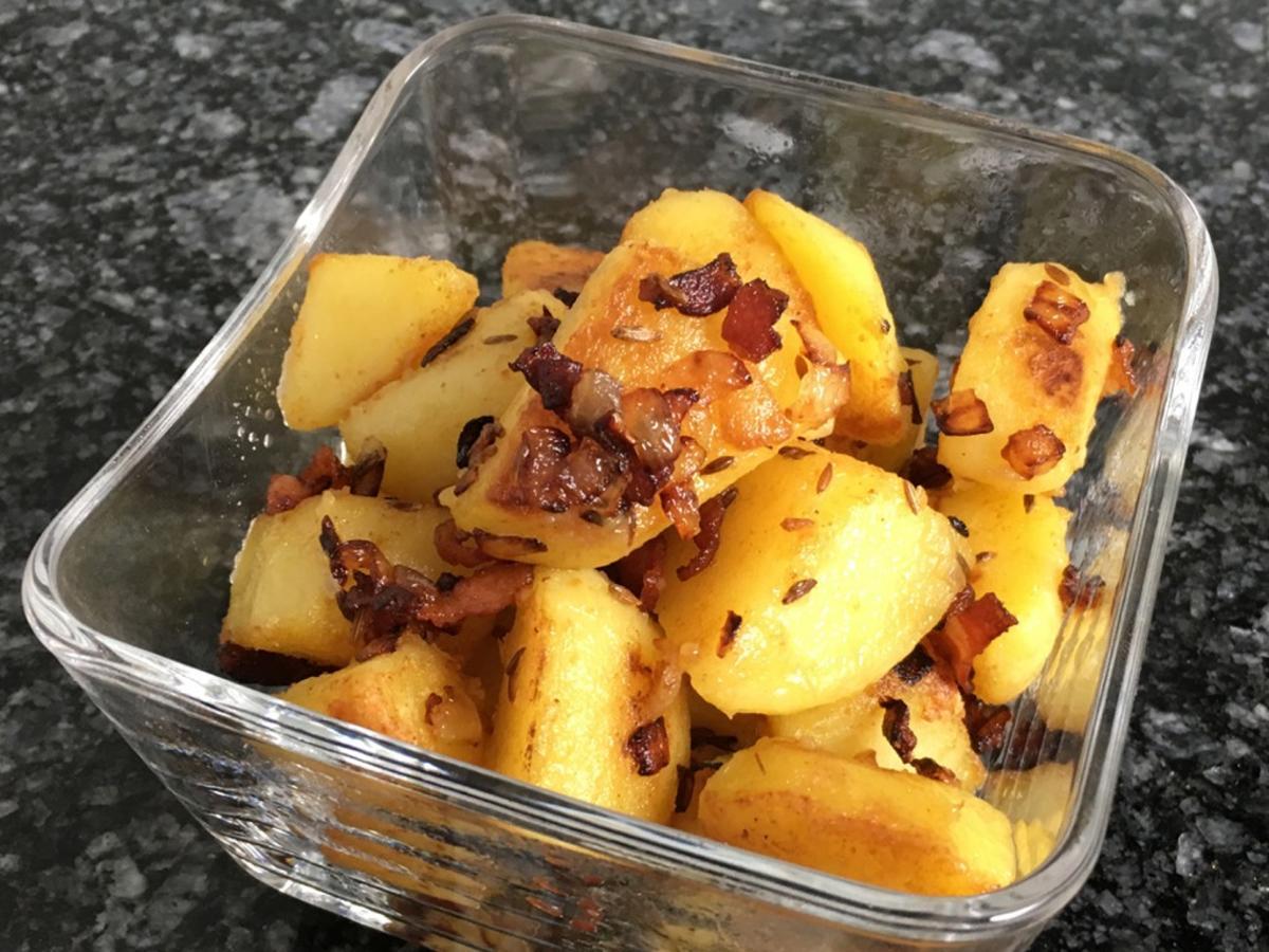 Bratkartoffeln mit Speck - mal anders zubereitet - Rezept Durch TimsKitchen-de