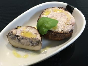 Champignons mit Feta und Oliven gefüllt - Rezept - Bild Nr. 5716