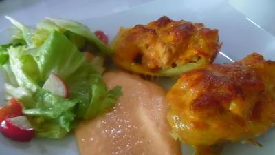 Chicken Potatoes mit Paprika-Rahm-Dip - Rezept - Bild Nr. 5725