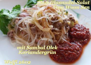Rezept: Salat Thai-Glasnudel-Salat mit Rinder-Hackfleisch