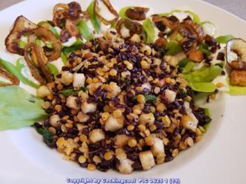 Schwarzer Reis und rote Linsen Salat - Rezept - Bild Nr. 5773