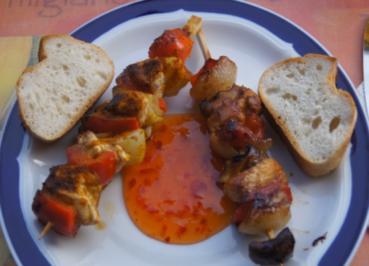 Hähnchenbrustfilet-Gemüse-Spieße - Rezept - Bild Nr. 5759