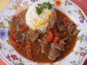 Rindfleisch Szechuan Art mit gebratenen Eier-Reis - Rezept - Bild Nr. 5759