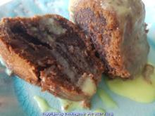 """""""Brownie"""" als Kuchenkranz und Lemon Curd Glasur - Rezept - Bild Nr. 5763"""