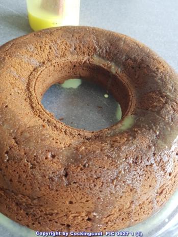 """""""Brownie"""" als Kuchenkranz und Lemon Curd Glasur - Rezept - Bild Nr. 5767"""
