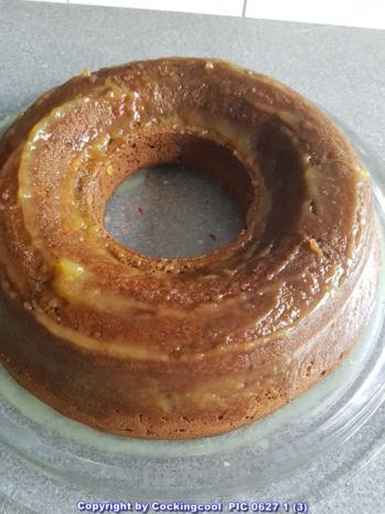 """""""Brownie"""" als Kuchenkranz und Lemon Curd Glasur - Rezept - Bild Nr. 5768"""