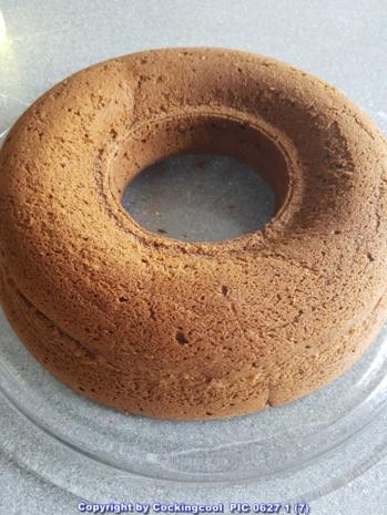 """""""Brownie"""" als Kuchenkranz und Lemon Curd Glasur - Rezept - Bild Nr. 5765"""