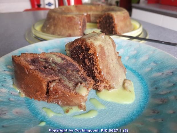 """""""Brownie"""" als Kuchenkranz und Lemon Curd Glasur - Rezept - Bild Nr. 5770"""