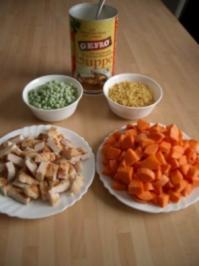 schnelle kräftige Suppe zum warm werden ;-) - Rezept