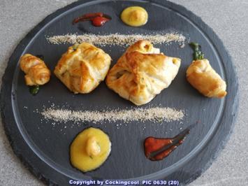 Blätterteig (herzhaft) auf einem Teller zu zweit geniessen - Rezept - Bild Nr. 2