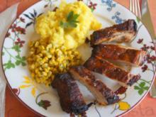 Spare Ribs mit Gemüsemais und Sellerie-Kartoffelstampf - Rezept - Bild Nr. 5778