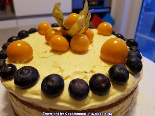 Blaubeeren Physalis Sahnetörtchen - Rezept - Bild Nr. 5803