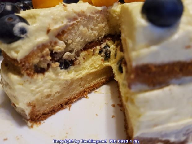 Blaubeeren Physalis Sahnetörtchen - Rezept - Bild Nr. 5807