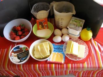 Erdbeeren Käsekuchen mit Streusel - Rezept - Bild Nr. 5804