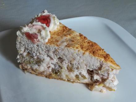 Kuchen ohne backen: Rhabarbertorte - Rezept - Bild Nr. 2