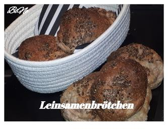 Rezept: BiNe` S LEINSAMENBRÖTCHEN