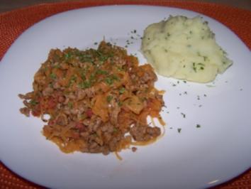 Sauerkraut-Hack-Pfanne - Rezept