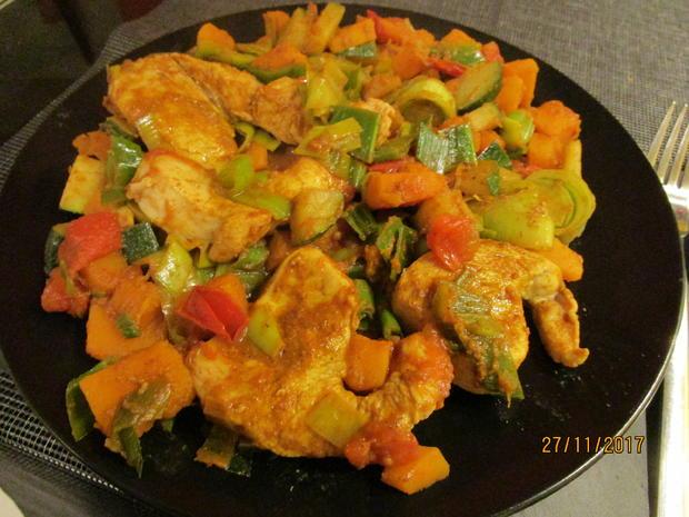 Gemüsepfanne mit Putenmedaillons - Rezept - Bild Nr. 5814