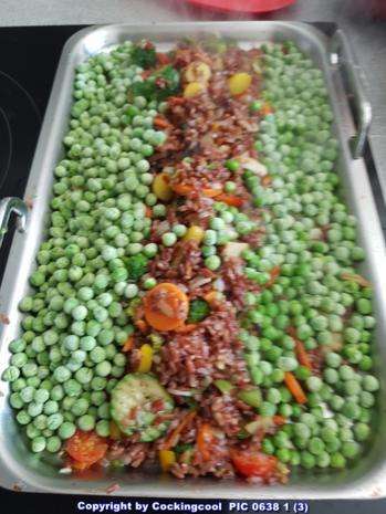 Gebratener roter Reis mit Gemüse - Rezept - Bild Nr. 5815
