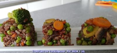 Gebratener roter Reis mit Gemüse - Rezept - Bild Nr. 5826