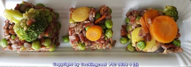Gebratener roter Reis mit Gemüse - Rezept - Bild Nr. 5827