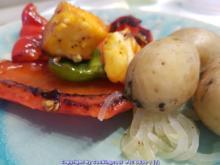 Halloumi mit gebratenen Paprikastücken - Rezept - Bild Nr. 5829
