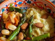Spargel-Gemüse mit Ziegenkäse-Polenta - Rezept - Bild Nr. 2