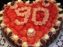 Backen: Torte - Erdbeerbuttercreme auf Schokoladenboden - Rezept - Bild Nr. 5827
