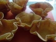Dessert-Körbchen aus Waffelteig, Waffeltüten etc. - Rezept - Bild Nr. 5827