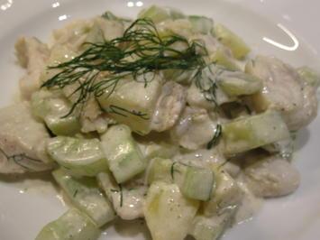Fisch: Zander mit Dill-Schmorgurken und Kartoffeln - Rezept - Bild Nr. 5835
