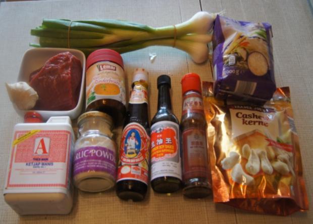 Rindfleisch mit Cashewkernen und Basmati Reis - Rezept - Bild Nr. 5838