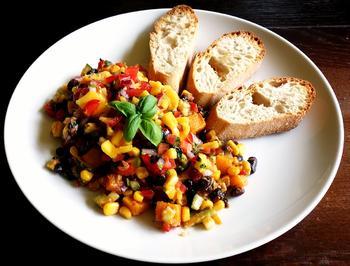Schwarze Bohnen Salat mit allerlei Gemüse und Mango-Chili-Salsa Topping - Rezept - Bild Nr. 5842